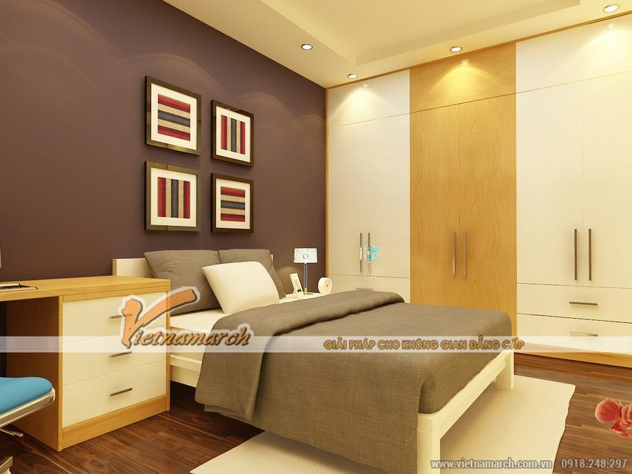 Phòng ngủ nhỏ dành cho cô con gái với thiết kế nhẹ nhàng, ấm cúng.