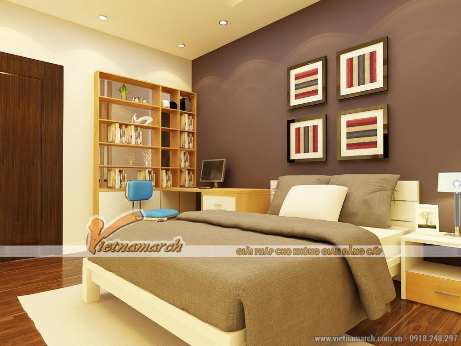 Thiết kế nội thất phòng ngủ 12m2 dành cho con - Thiết kế nội thất căn hộ park 5 - chung cư Park Hill Times City.