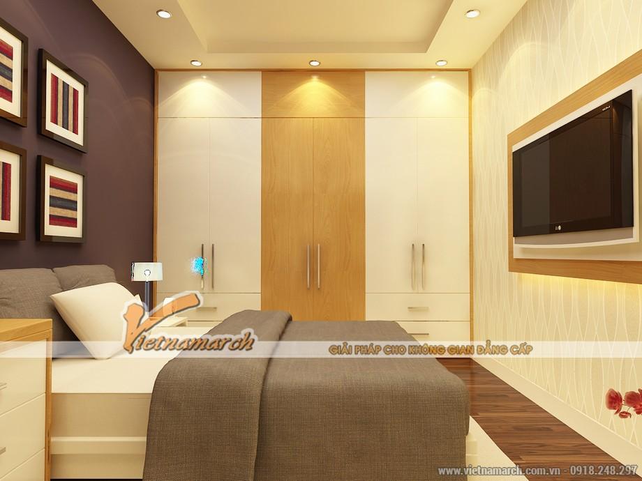 Phương án thiết kế nội thất phòng ngủ cho con trong căn hộ park 5 - chung cư Park Hill Times City.