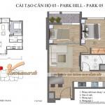 Thiết kế nội thất chung cư Park Hill căn hộ 2 phòng ngủ P5-03 nhà anh Hòa