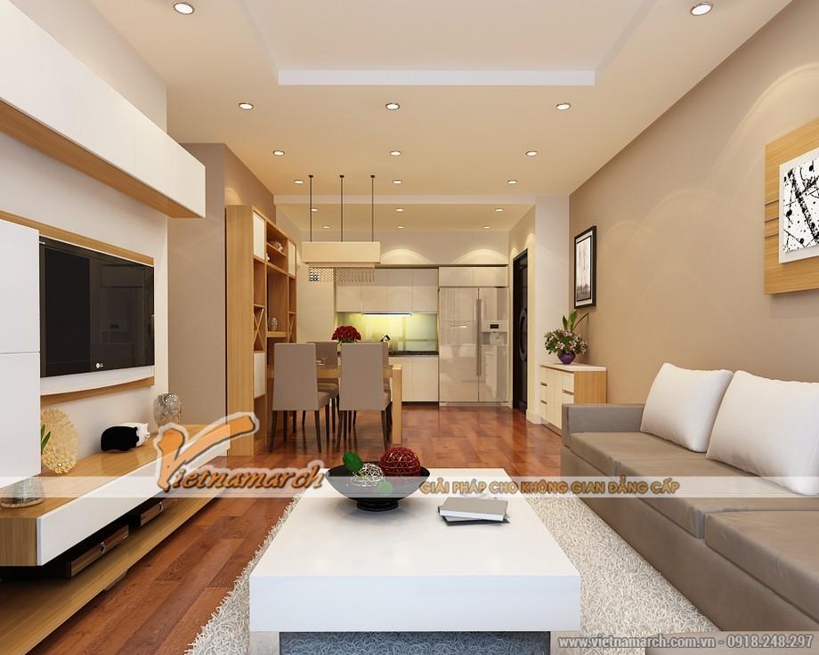 Nội thất phòng khách hiện đại - Thiết kế nội thất chung cư Park Hill