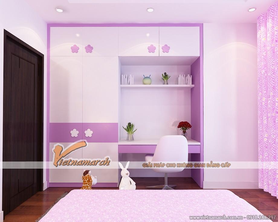 Nội thất phòng ngủ cho con gái - Thiết kế nội thất căn hộ 12P2 chung cư Park Hill Times City