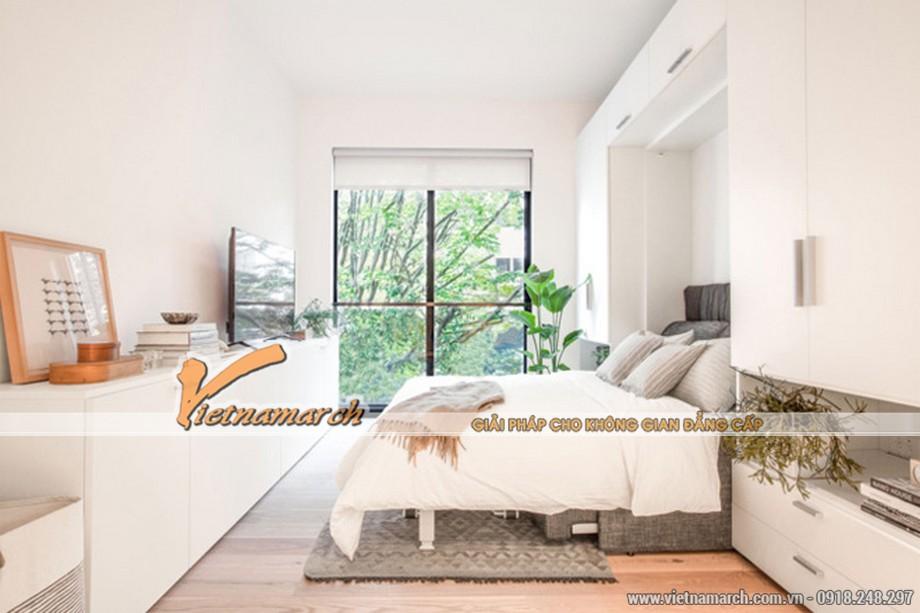 Nội thất phòng ngủ nhỏ với đầy đủ tiện nghi