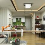 Nội thất hiện đại trong căn hộ T32301 chung cư Timses City