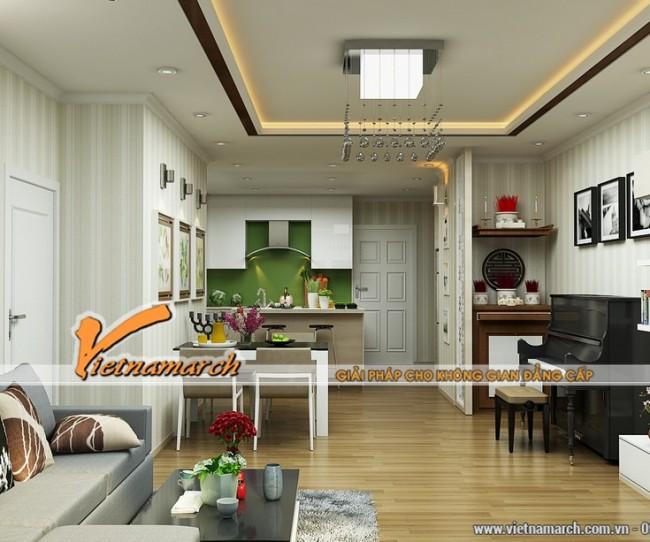 Thiết kế nội thất căn hộ T32301 nhà chị Hoàng Anh