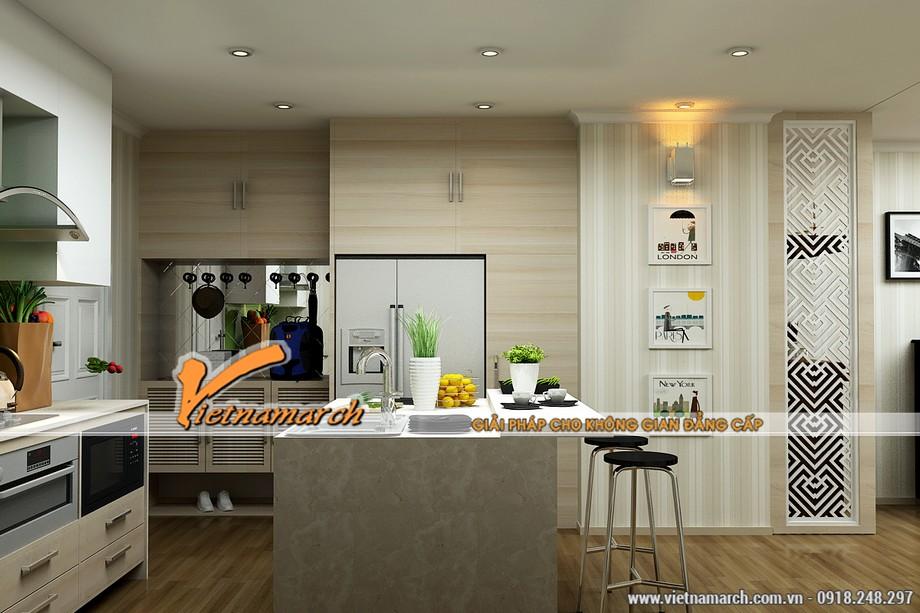 Nội thất phòng bếp - căn hộ nhà chị Hòa chung cư Times City