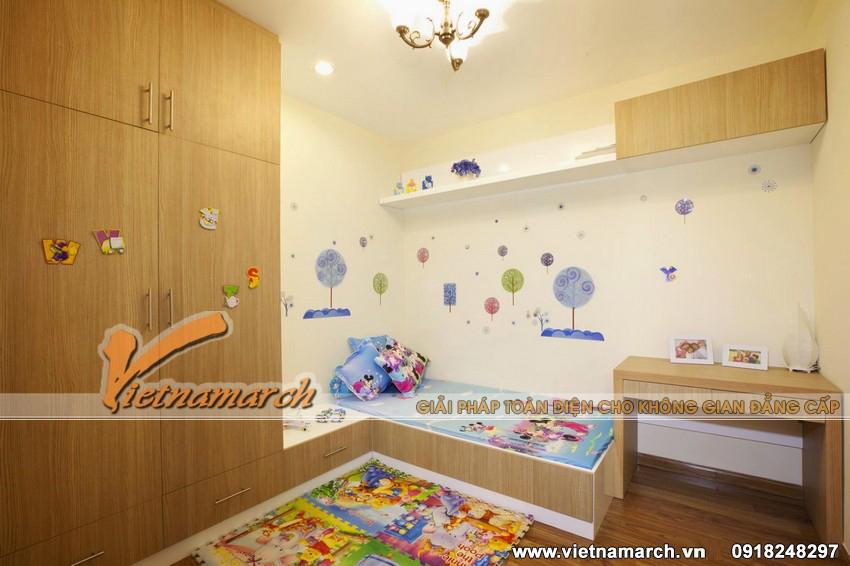 Phòng ngủ đáng yêu của các con - Mẫu nội thất chung cư đẹp