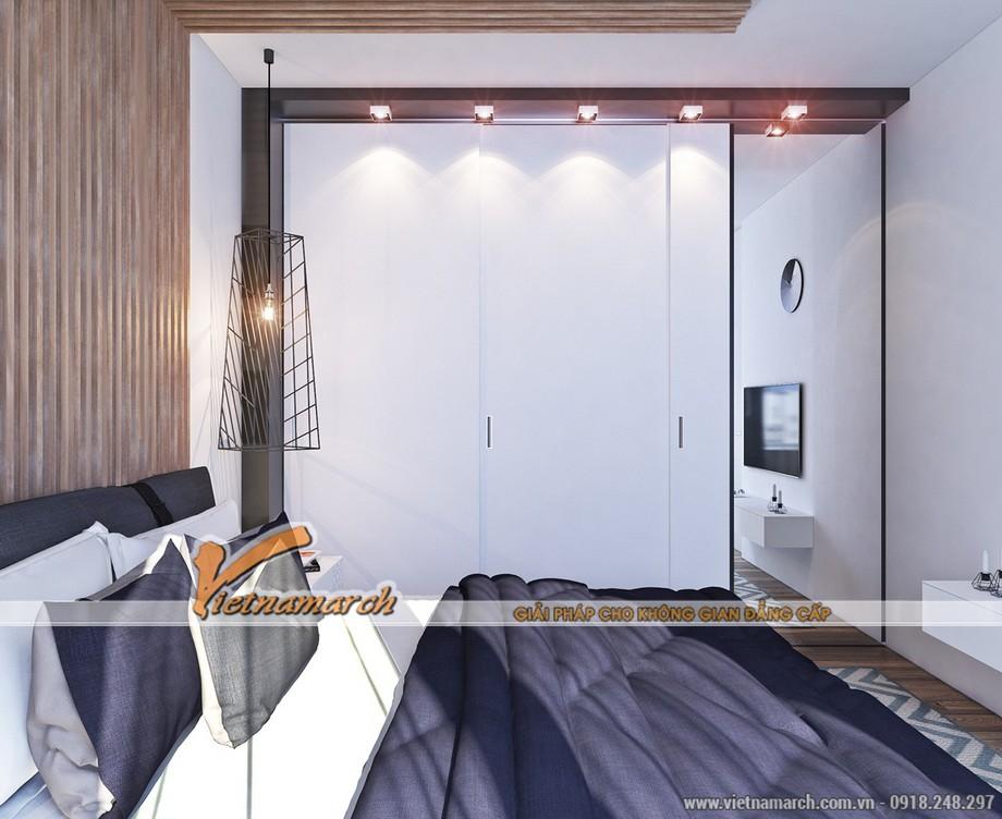 Thiết kế nội thất phòng ngủ ấm áp trong chung cư Times City