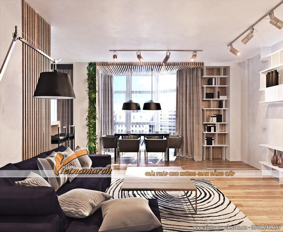 Phòng bếp thoáng rộng và sáng sủa - thiết kế nội thất times city