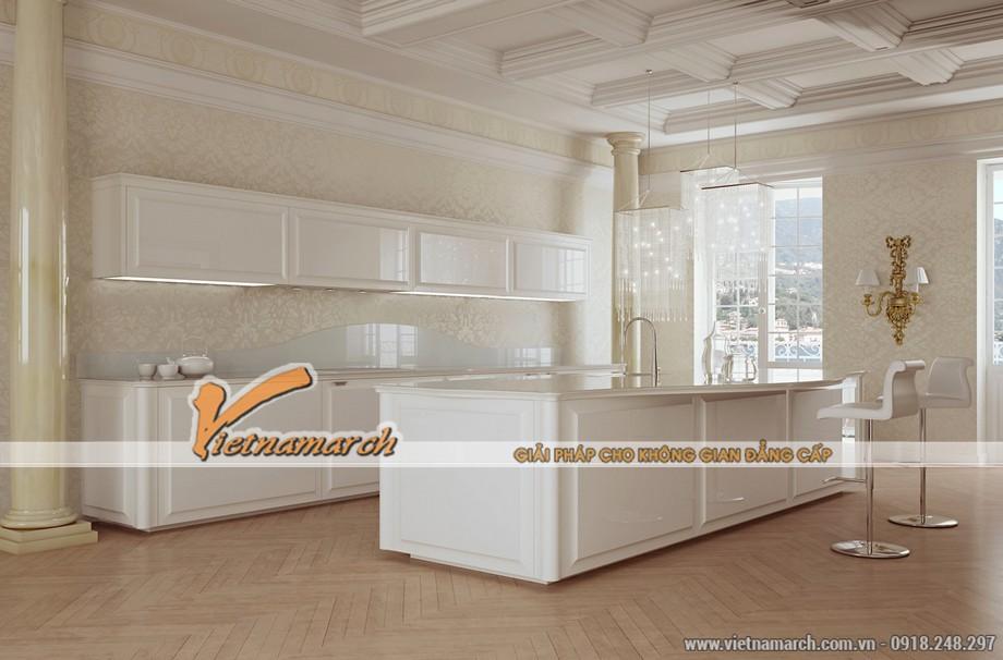13. Mẫu nhà bếp với nội thất sang trọng