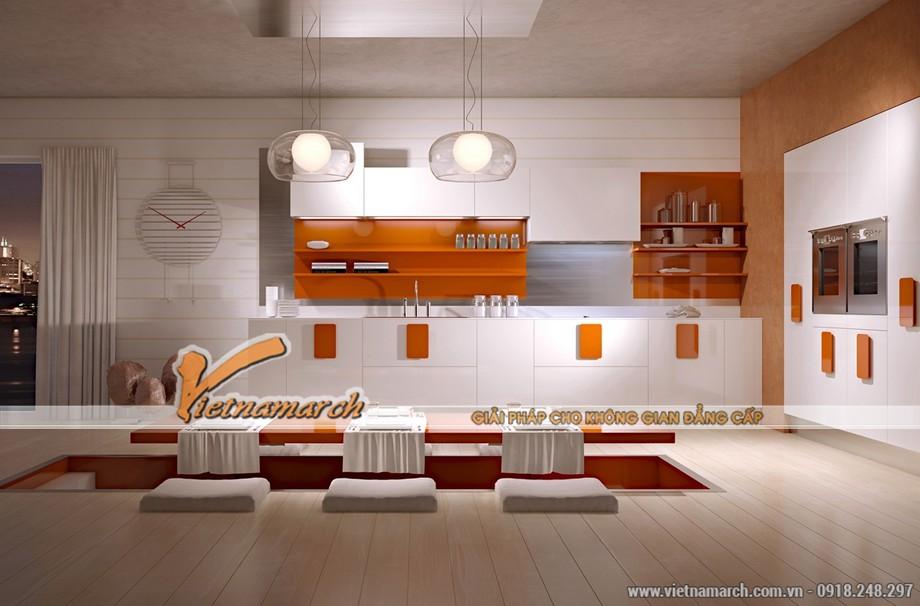 9. Mẫu thiết kế nội thất phòng bếp sáng tạo