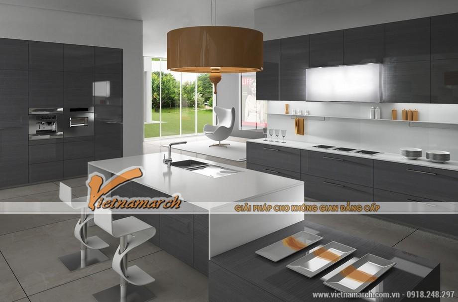 Nội thất nhà bếp nhỏ hiện đại và tiện nghi