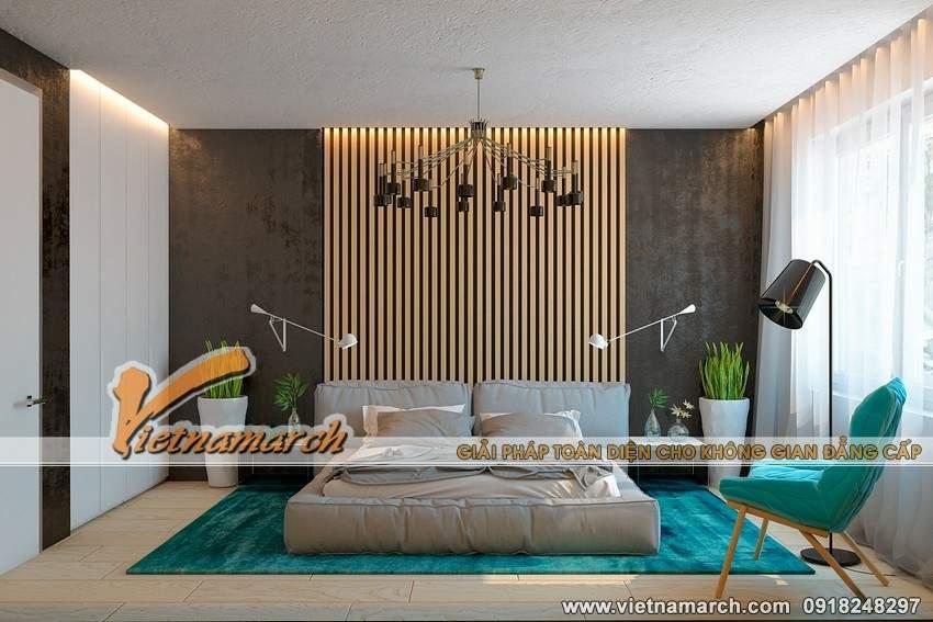 Căn phòng tràn đầy sức sống với màu xanh - Thiết kế nội thất căn hộ Park 11 chung cư Park Hill Times City
