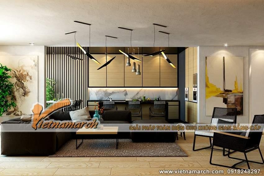 Phòng khách hiện đại và rộng rãi nhờ cách bố trí sắp đặt thông minh