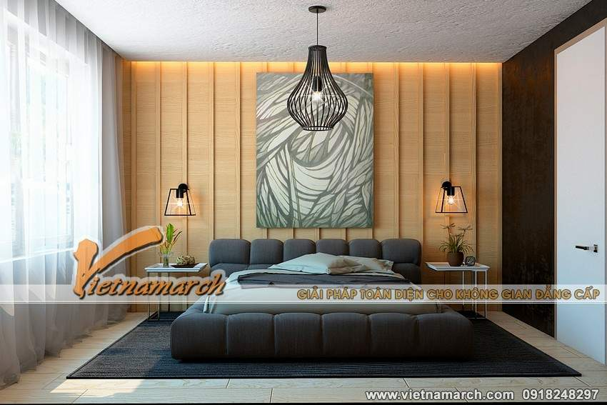 Phòng ngủ thiết kế đơn giản mà hiện đại - Thiết căn hộ 3 phòng ngủ chung cư Park Hill