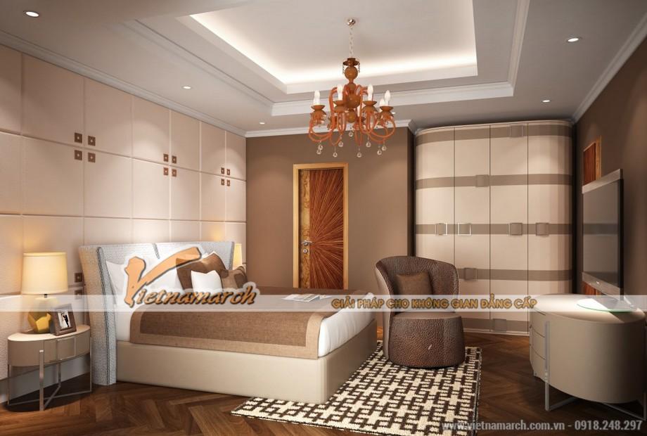 Phòng ngủ sang trọng - thiết kế nội thất chung cư D'. PALAIS DE LOUIS - Tân Hoàng Minh