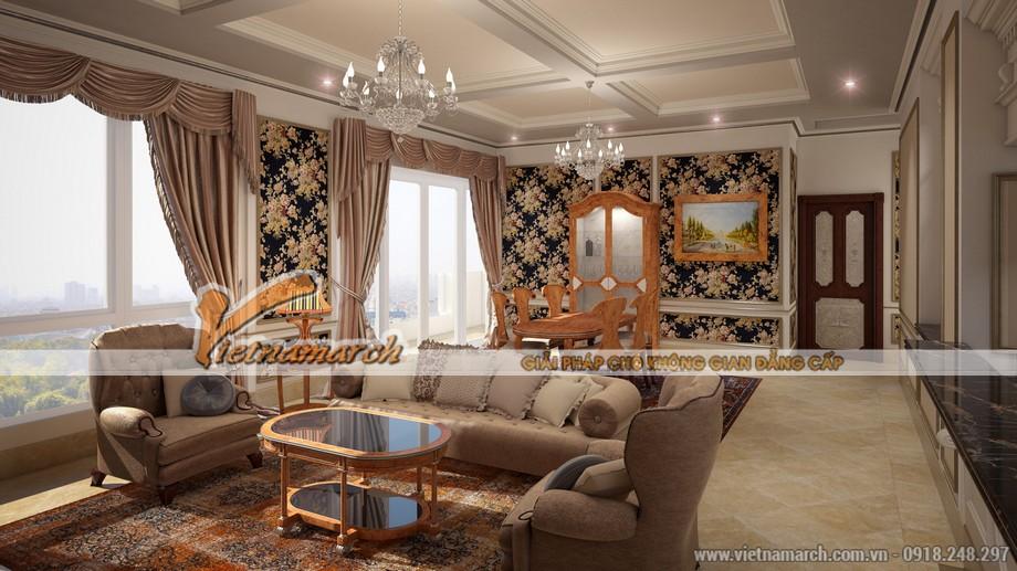 Nội thất chung cư D'. PALAIS DE LOUIS thiết kế đồng bộ và sang trọng