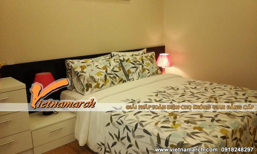 Phòng ngủ của bố mẹ với tông màu trầm ấm áp - Nội thất chung cư Times City