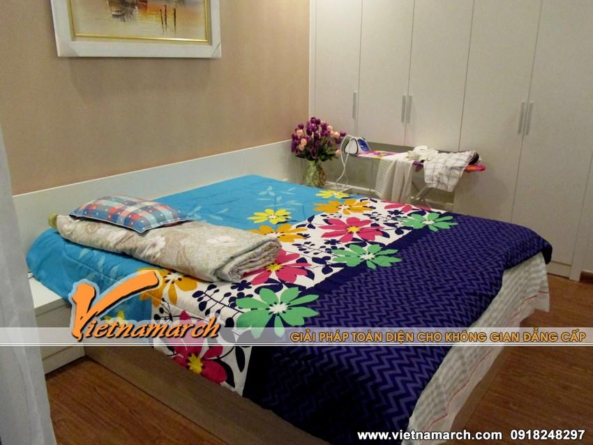 Phòng ngủ ấm áp, đẹp mắt với chăn ga nhiều màu sắc - Thiet ke noi that chung cu dep