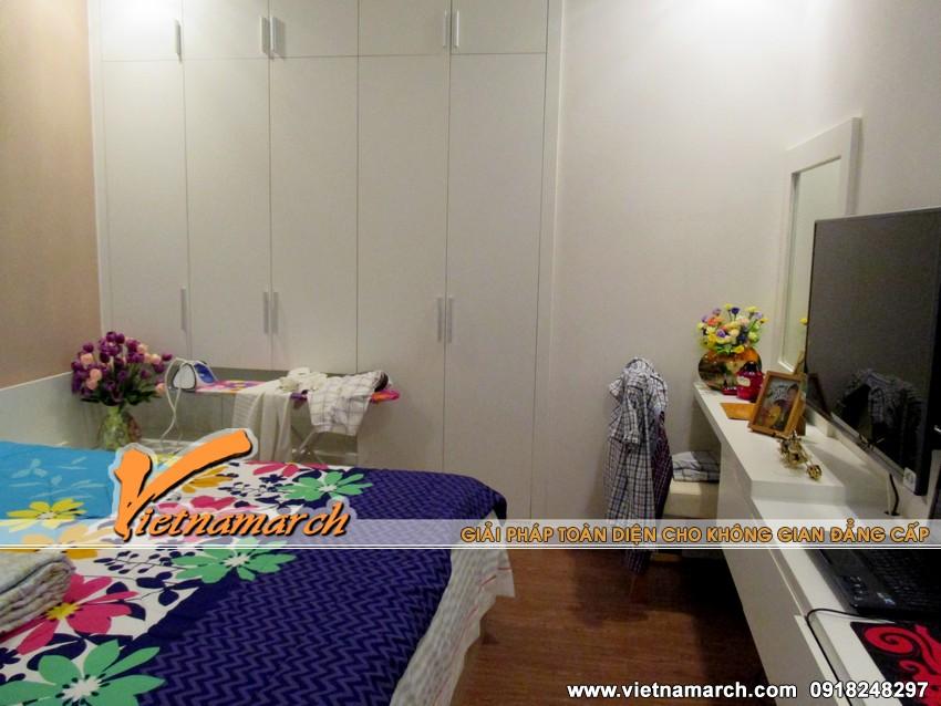 Căn phòng ngủ nhỏ nhưng đáp ứng được mọi nhu cầu của chủ nhân