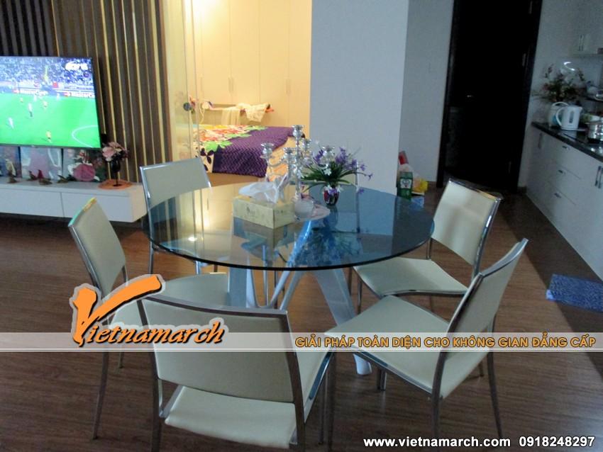 Phòng bếp hiện đại và rộng rãi - Thiết kế nội thất chung cư Times City
