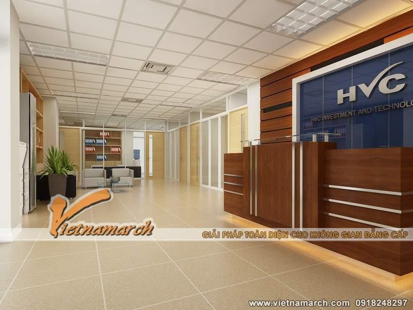 Khu vực đại sảnh của văn phòng công ty HVC