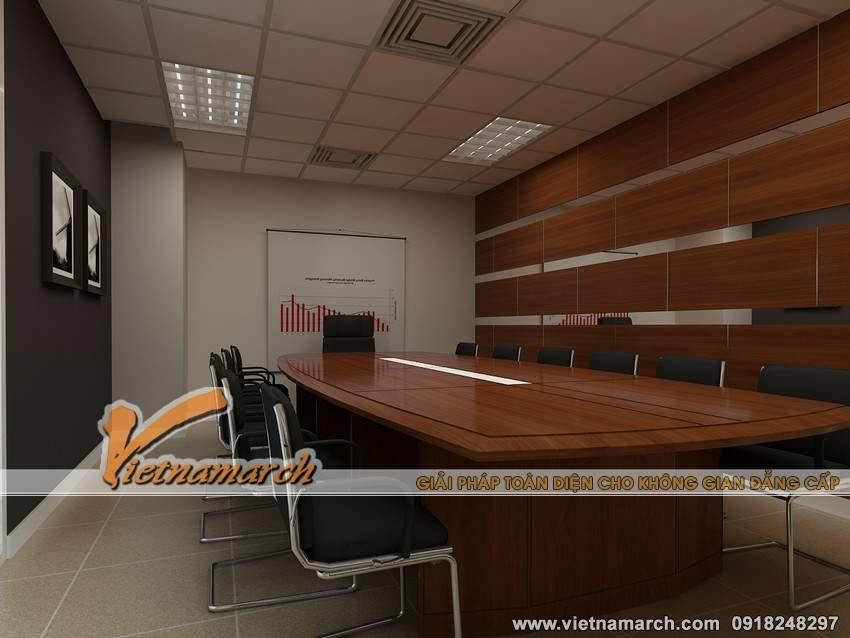Thiết kế nội thất phòng họp sang trọng của công ty HVC
