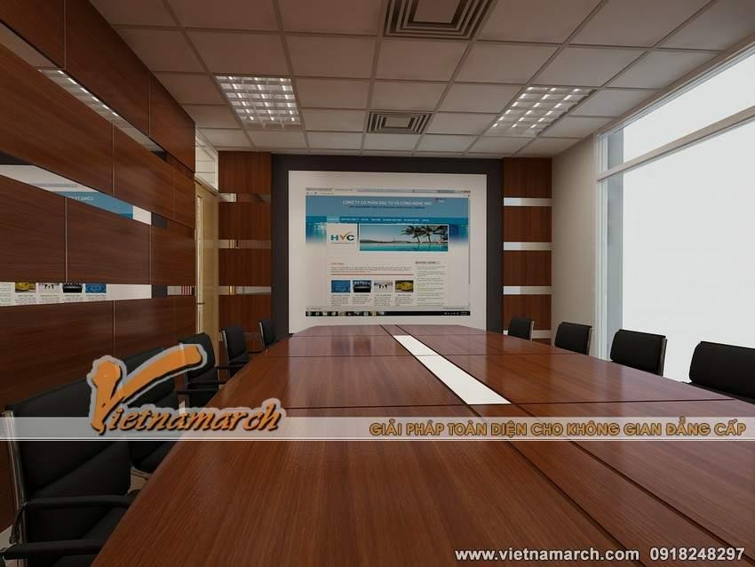 Thiết kế nội thất văn phòng công ty HVC