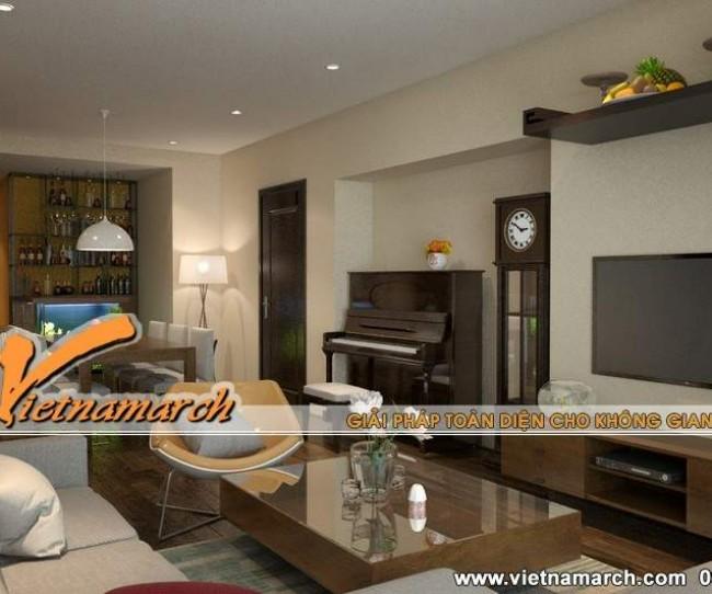 Thiết kế nội thất Times City, căn hộ nhà chị Hòa