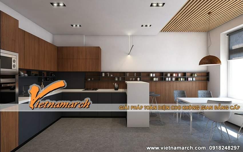 Thiết kế nội thất phòng bếp chung cư Times City