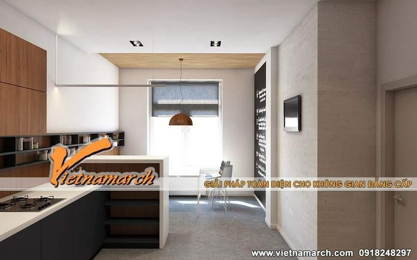 Thiết kế nội thất phòng bếp - căn hộ 12.18T4 chung cư Times City