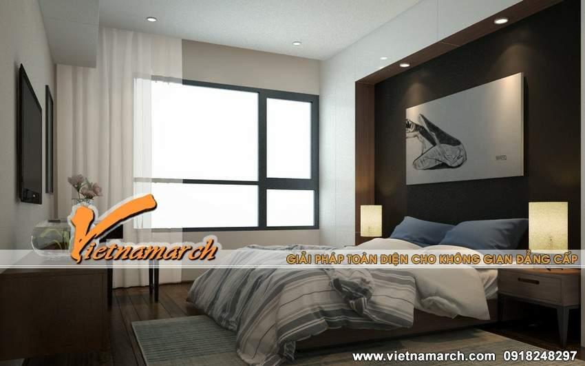 Thiết kế phòng ngủ hiện đại và tràn ngập ánh nắng - Nội thất chung cư Times City