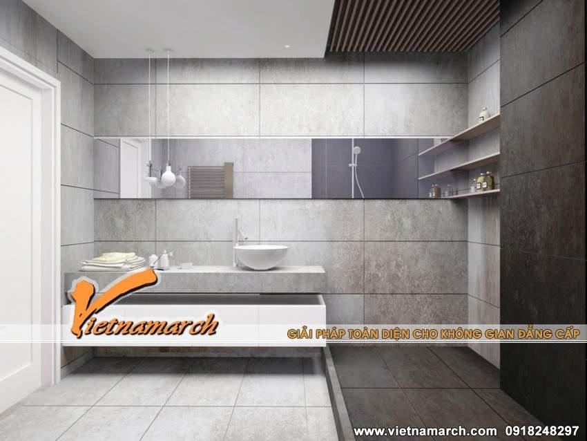 Thiết kế nội thất phòng tắm - căn hộ 12.18T4 Chung cư Times City