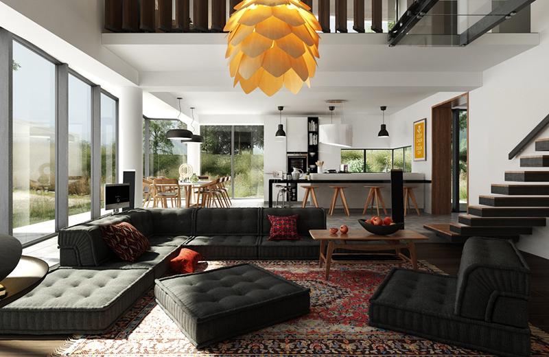 Trải thảm trên nền nhà giúp tăng nhiệt độ trong phòng.