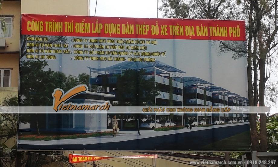 Hình ảnh thiết kế giàn thép đỗ xe cao tầng Nguyễn Công Hoan