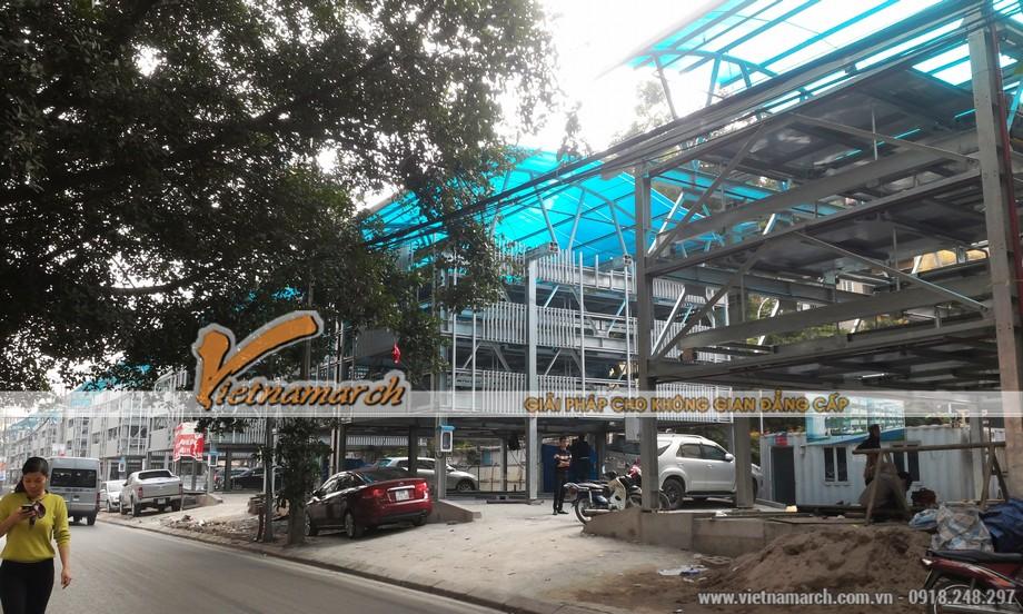 Toàn cảnh công trình bãi đỗ xe Nguyễn Công Hoan những ngày cuối năm 2015