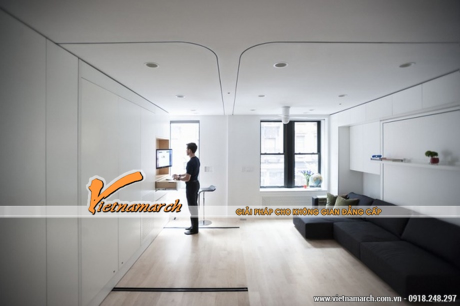 Tư vấn thiết kế nhà đẹp giúp căn hộ 40m2 rộng rãi thoải mái như căn hộ 90m2
