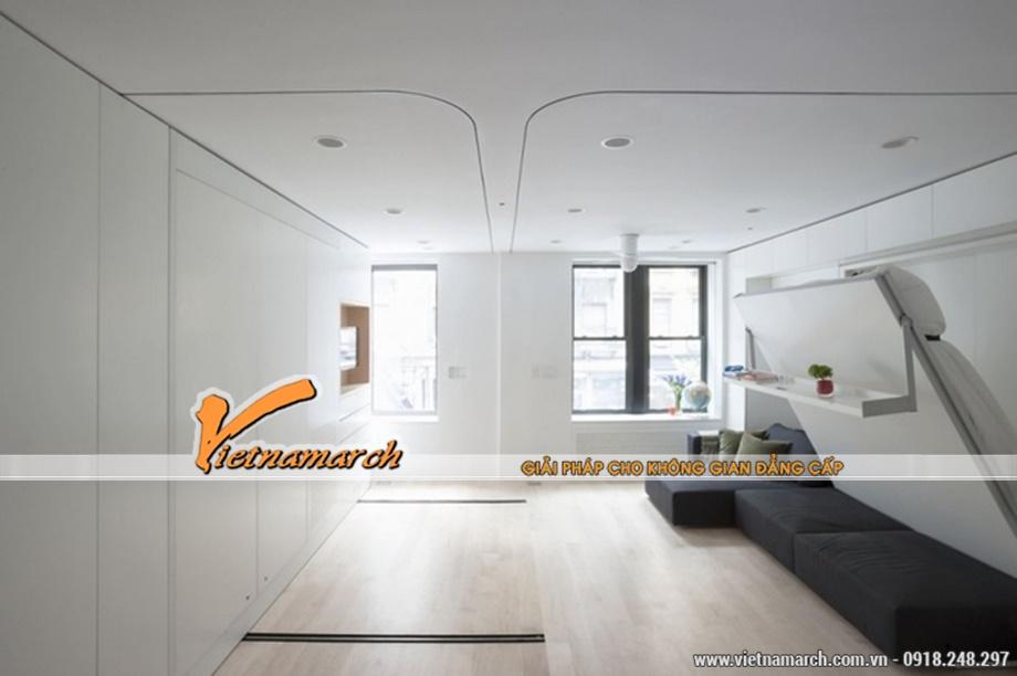 Phòng khách tông màu sáng hiện đại, trẻ trung