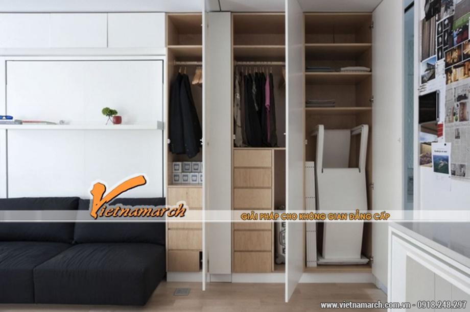Tủ đựng đồ âm tường tiện nghi là giải pháp giúp tiết kiệm không gian