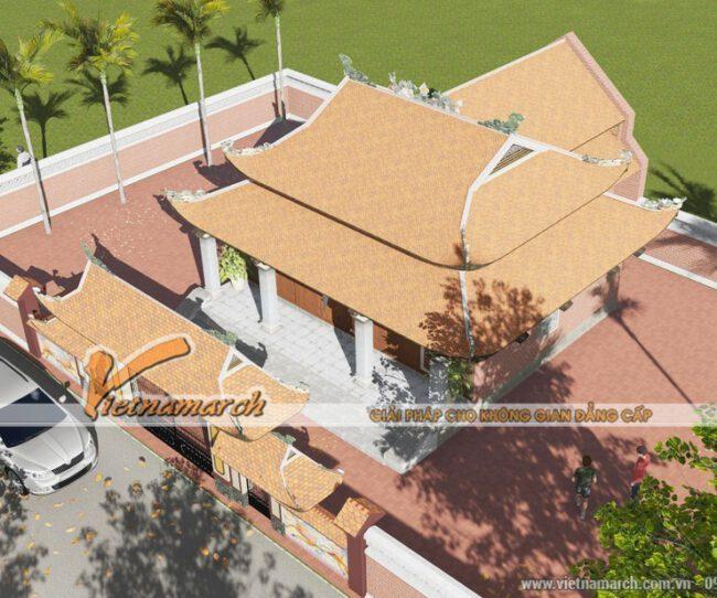 Kiến trúc mẫu nhà thờ họ 8 mái cho nhà bác Đô - Lạng Sơn