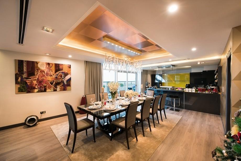 Phòng bếp hiện đại tiện nghi - Thiết kế nội thất căn hộ penthouse
