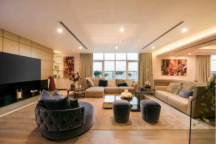 Nội thất phòng khách hoàn hảo - Thiết kế nội thất căn hộ Penthouse