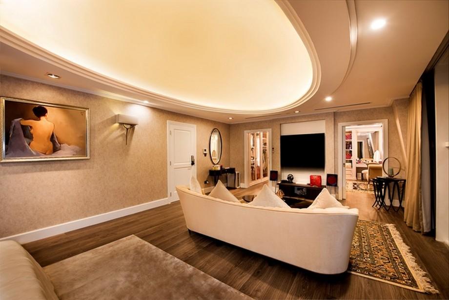Phòng ngủ rộng, đầy đủ tiện nghi và ấm áp - Nội thất căn hộ Penthoues