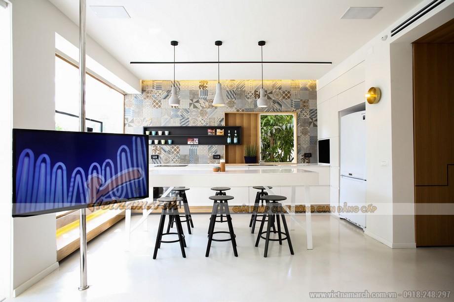 Phòng khách và phòng ăn + khu bếp nấu như một không gian thống nhất