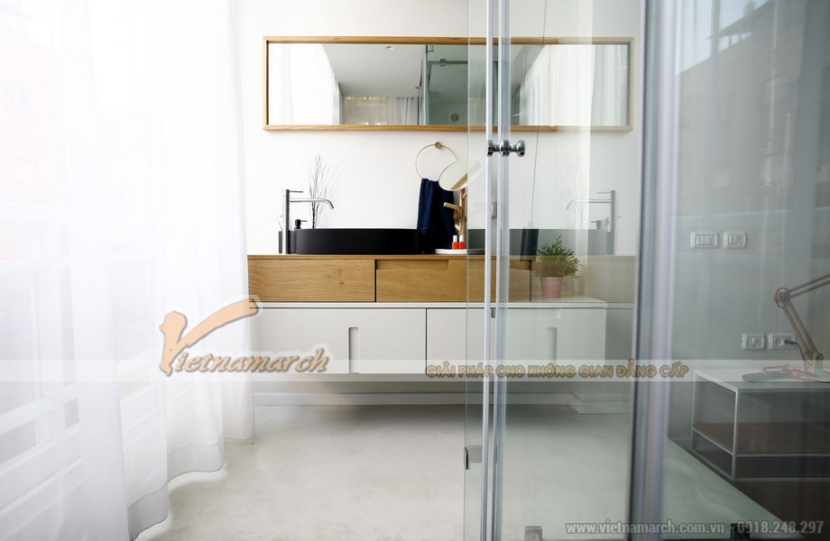 Phòng làm việc liền kề với khu vực phòng khách