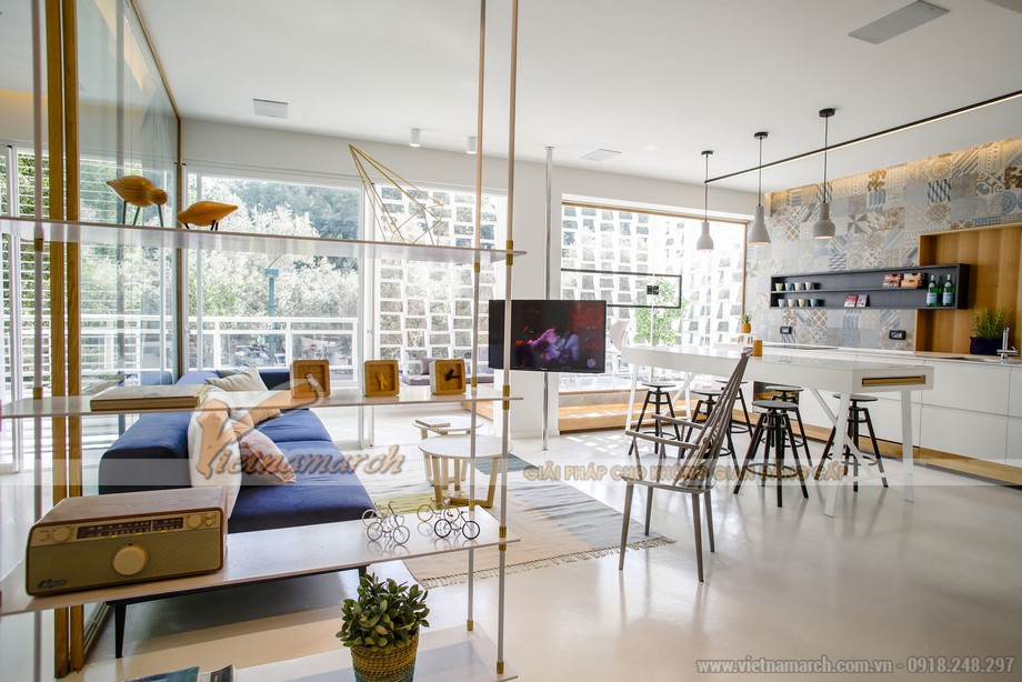 Ngất ngây với thiết kế hiện đại không gian mở trong căn hộ chung cư 110m2