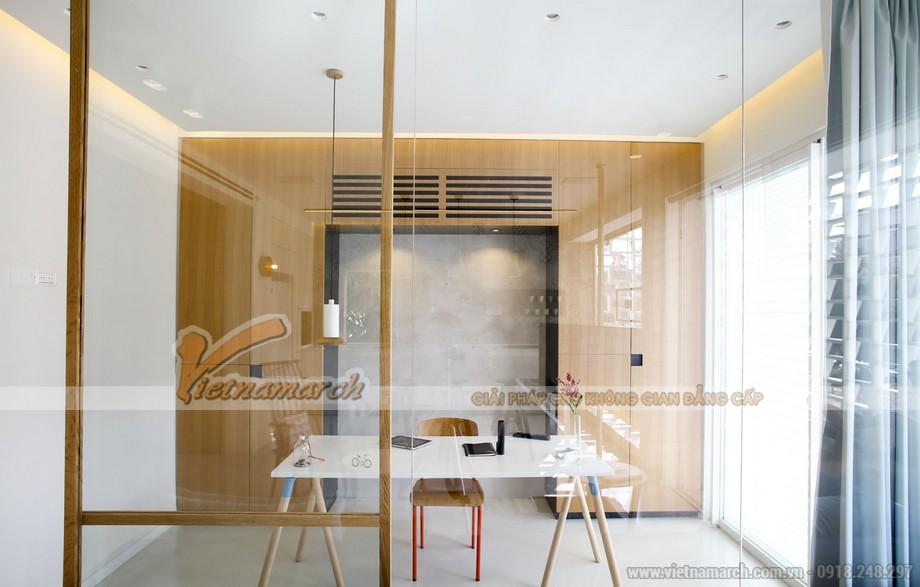 Phòng làm việc được thiết kế với sự tối giản