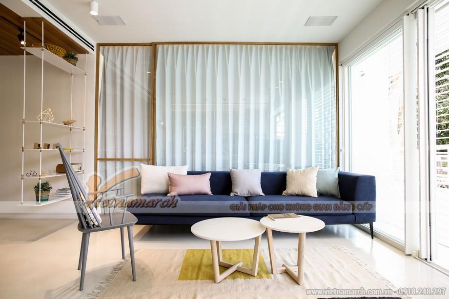 Phòng khách thoáng rộng nhờ biết tối ưu các thiết kế nội thất