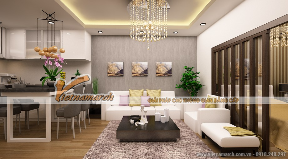 Phòng khách hiện đại.