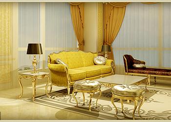Nội thất hoàng gia trong căn hộ mẫu - B Hermes chung cư D'.Palais de Louis